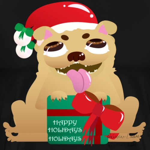 Pug-liday! - Men's Premium T-Shirt