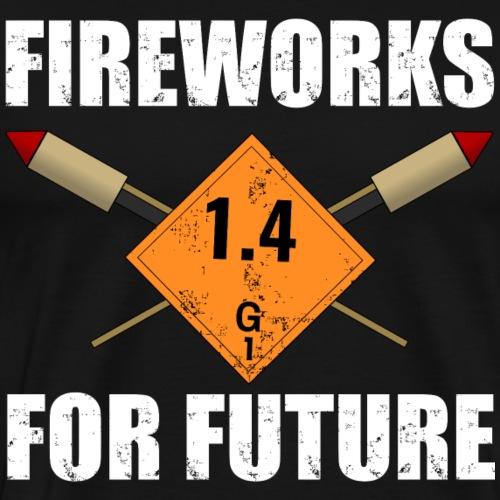 Fireworks for Future Silvester Pyro - Männer Premium T-Shirt