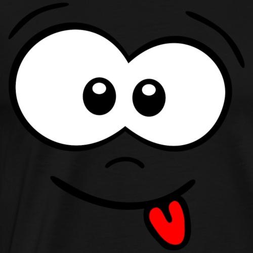 Gesicht Zunge rausstrecken - Männer Premium T-Shirt