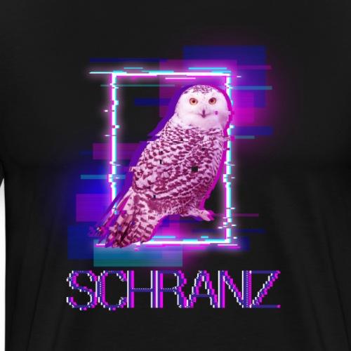 minimal elektro schranz eule - Männer Premium T-Shirt