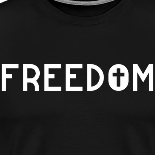Freedom through Jesus - Männer Premium T-Shirt