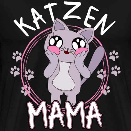 Katzen Mama Shirt Geschenk - Männer Premium T-Shirt