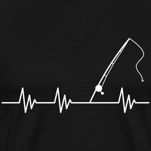 Puls Herzschlag Angel Vektor - Männer Premium T-Shirt