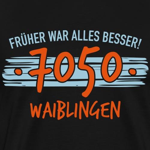 Früher 7050 Waiblingen Geschenk - Männer Premium T-Shirt