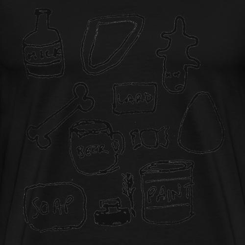 Milk, Meat, Skin, Bone... - Men's Premium T-Shirt