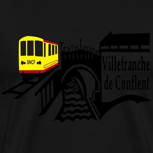 train jaune villefranche de conflent - Männer Premium T-Shirt