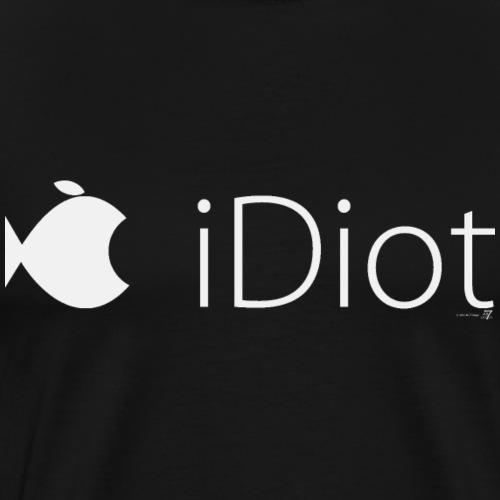 iDiot mit Fisch T-Shirt hell auf schwarz - Männer Premium T-Shirt