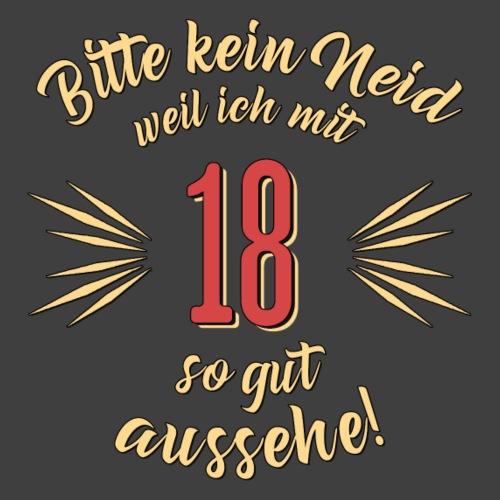 Geburtstag 18 - Bitte kein Neid - Rahmenlos T - Männer Premium T-Shirt