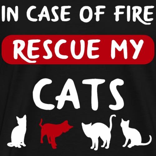 Katzenspruch Katze Mieze Shirt Geschenk - Männer Premium T-Shirt