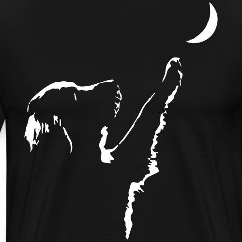 dog moon - Men's Premium T-Shirt