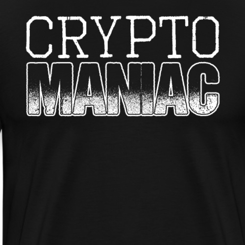 Crypto Maniac Cryptocurrency - Männer Premium T-Shirt