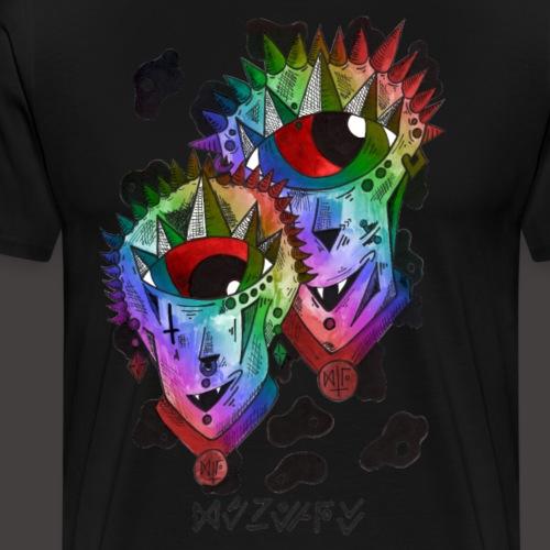 Gemeaux multi-color - T-shirt Premium Homme