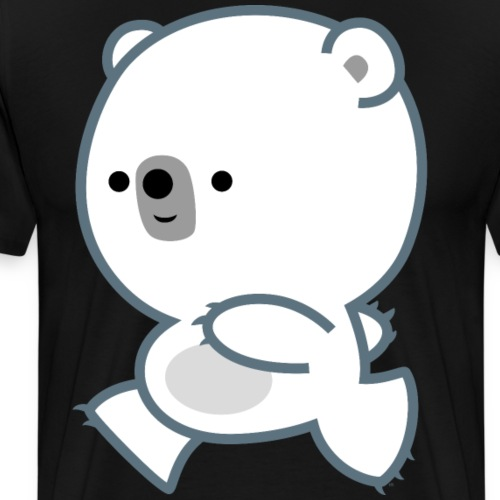 Cute Running Polar Bear Cub by Cheerful Madness!! - Men's Premium T-Shirt