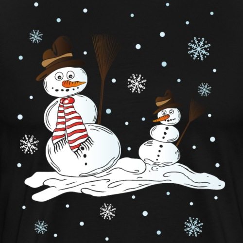 Schneemänner, Winter, Schneeflocken