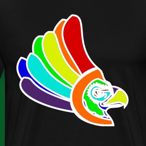 Vogel Kopf Regenbogen weiss Blick nach links