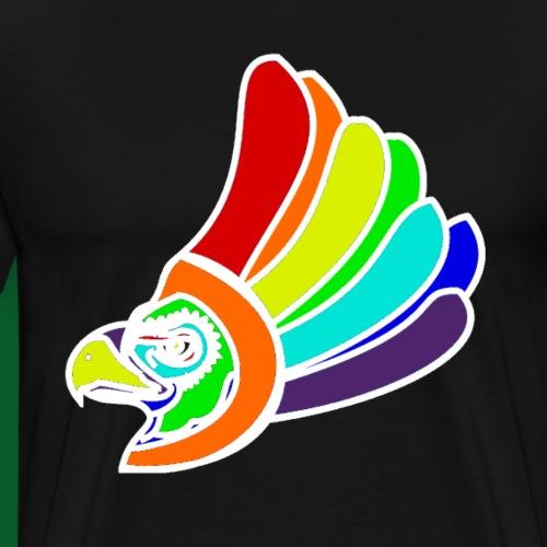 Vogel Kopf Regenbogen weiss Blick nach rechts