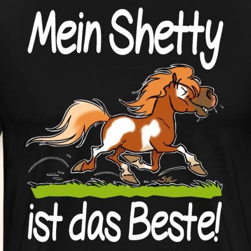Mein Shetty ist das Beste (Text Weiss) - T-shirt Premium Homme