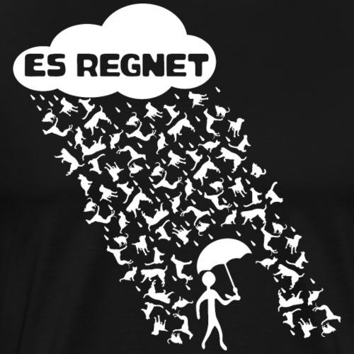 ES REGNET HUNDE UND KATZEN - Männer Premium T-Shirt