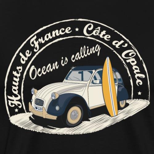 2CV - Ocean is calling (L'océan m'appelle! - T-shirt Premium Homme