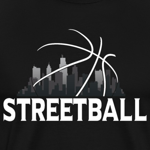 Streetball Skyline - Street basketball - Men's Premium T-Shirt