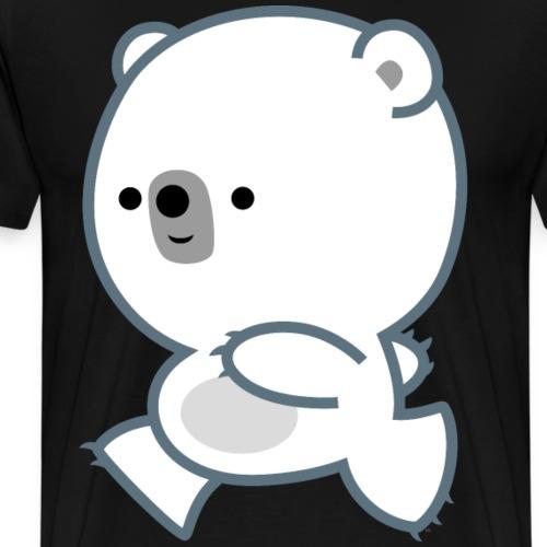 Cute Running Polar Bear Cub by Cheerful Madness!! - Men's Premium T-Shirt