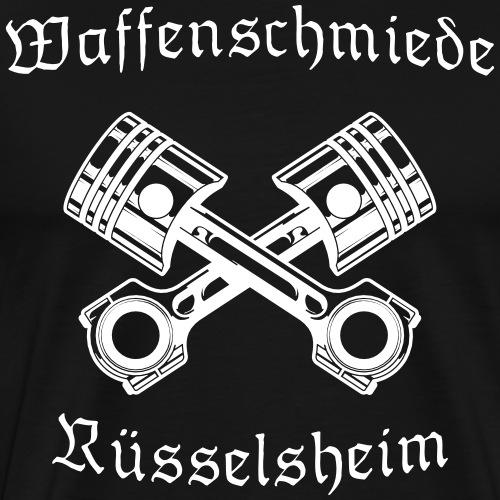Waffenschmiede Rüsselsheim mit Kolben - Männer Premium T-Shirt