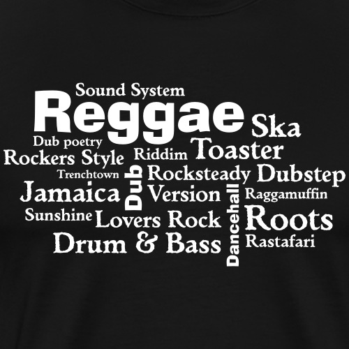 reggae tag cloud - Männer Premium T-Shirt
