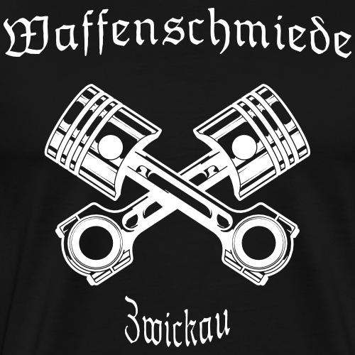 Waffenschmiede Zwickau mit Kolben - Männer Premium T-Shirt