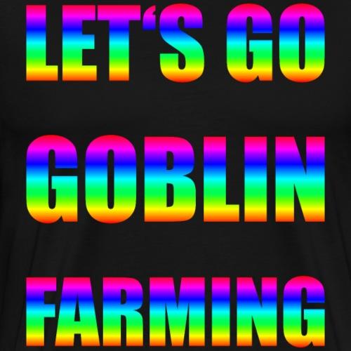 Goblin Farming Gamer Shirt Geschenk - Männer Premium T-Shirt