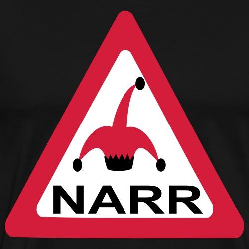 achtung vorsicht narr - Männer Premium T-Shirt