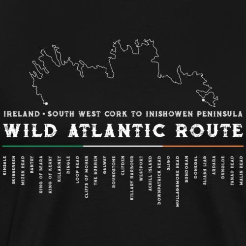 Wild Atlantic Route Ireland Design 2 - Men's Premium T-Shirt