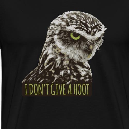 I Don't Give A Hoot Owl - Mannen Premium T-shirt