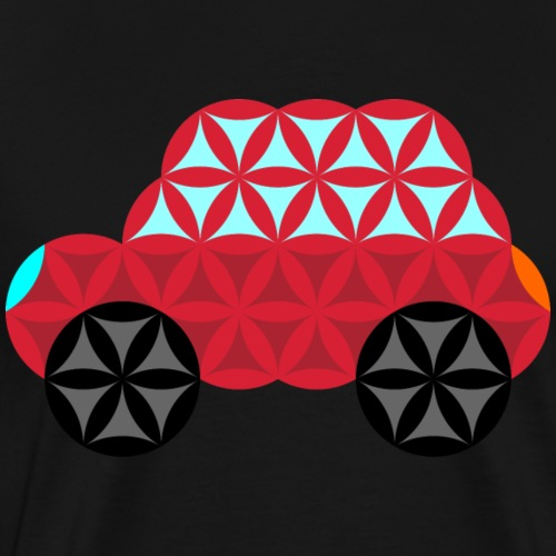 The Car Of Life - M01, Sacred Shapes, Red/186 - Men's Premium T-Shirt