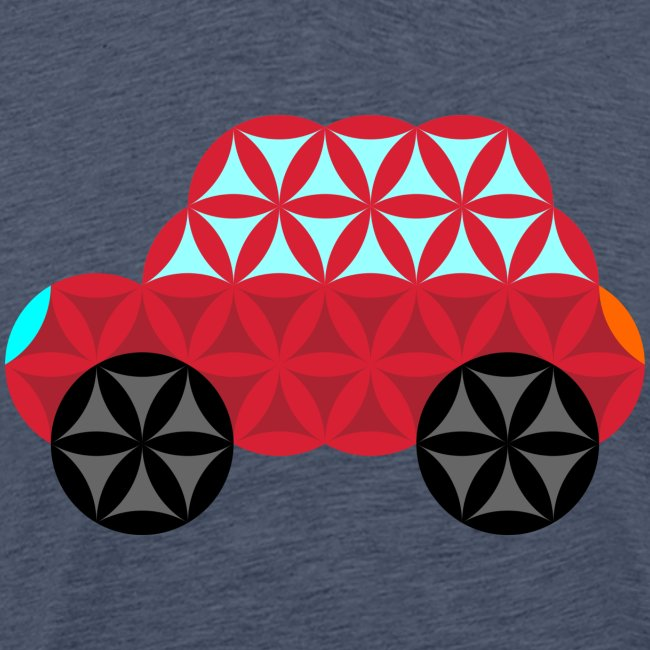The Car Of Life - M01, Sacred Shapes, Red/186