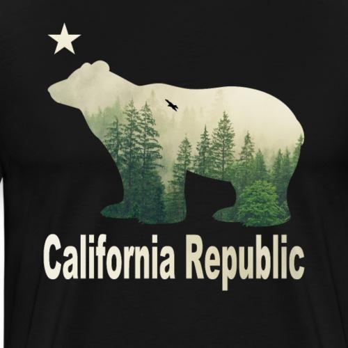 Vintage California Republic Bear T-Shirt - Männer Premium T-Shirt