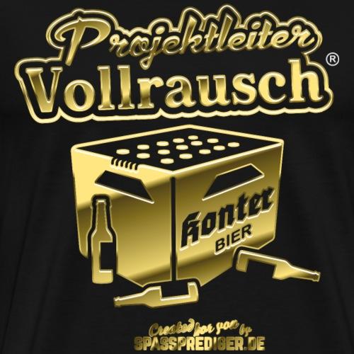 Projektleiter Vollrausch® Gold - Männer Premium T-Shirt