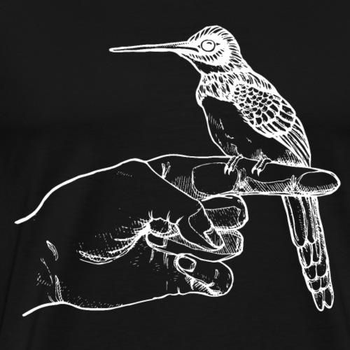 Kolibri auf der Hand - Männer Premium T-Shirt