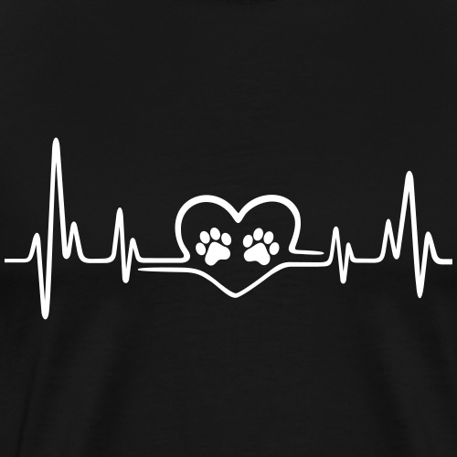 heartbeat animalpaw - Men's Premium T-Shirt