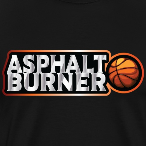 Asphalt Burner - for streetball players - Men's Premium T-Shirt