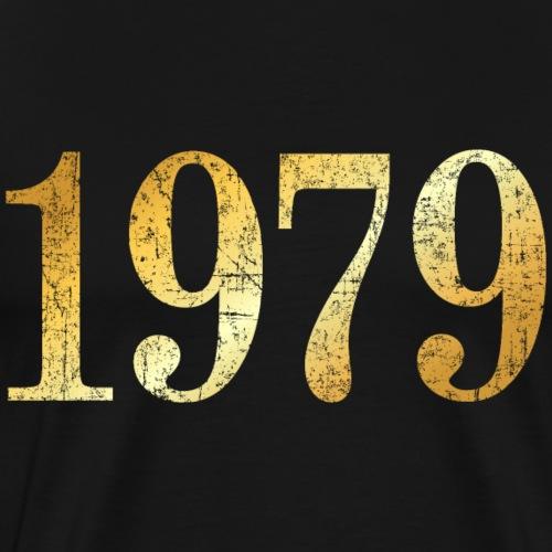 Jahr 1979 Geburtstag (Vintage Goldgelb) - Männer Premium T-Shirt