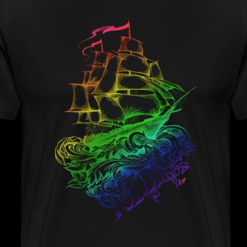 Rainbow ship - Maglietta Premium da uomo