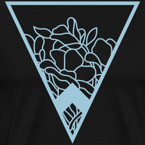 flowers in triangle design - Men's Premium T-Shirt
