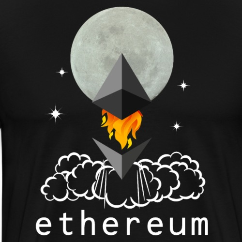 Ethereum Cryptocurrency To The Moon - Männer Premium T-Shirt