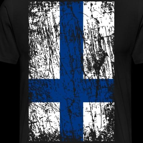 Vintage flag Finland - Men's Premium T-Shirt