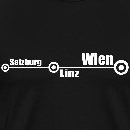 Salzburg - Linz - Wien - Männer Premium T-Shirt