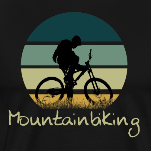 Mountainbiking Fahrrad Downhill Trail - Männer Premium T-Shirt