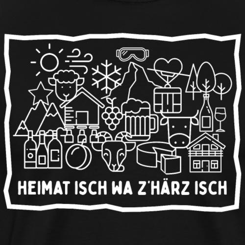 HEIMAT ISCH WA Z'HÄRZ ISCH - Männer Premium T-Shirt