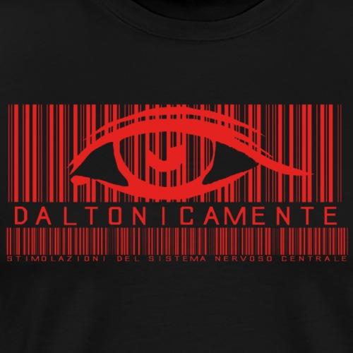 Daltonicamente logo rosso - Maglietta Premium da uomo