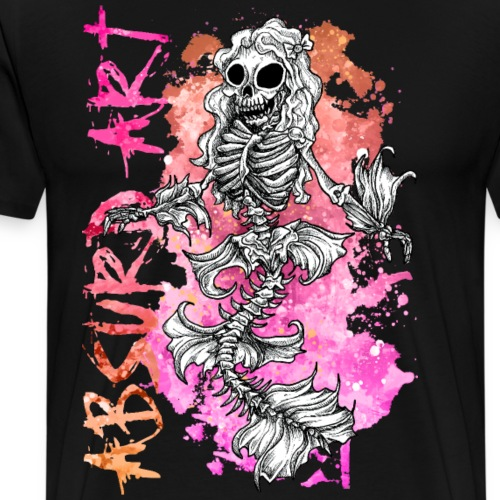 Knochentierchen Meerjungfrau von Absurd ART - Männer Premium T-Shirt
