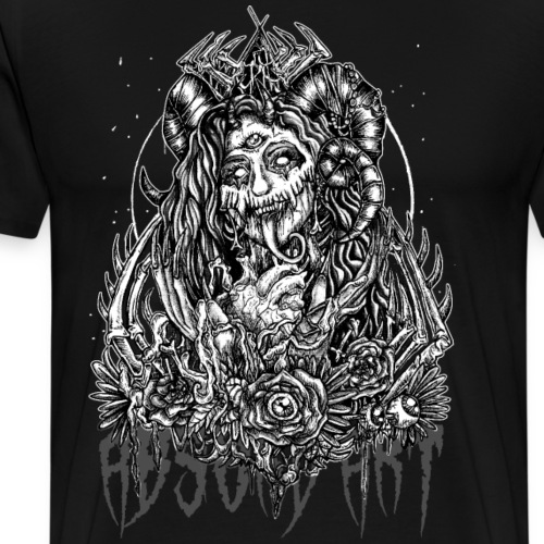 Murderous Beauty, Black'n White, Absurd Art - Männer Premium T-Shirt